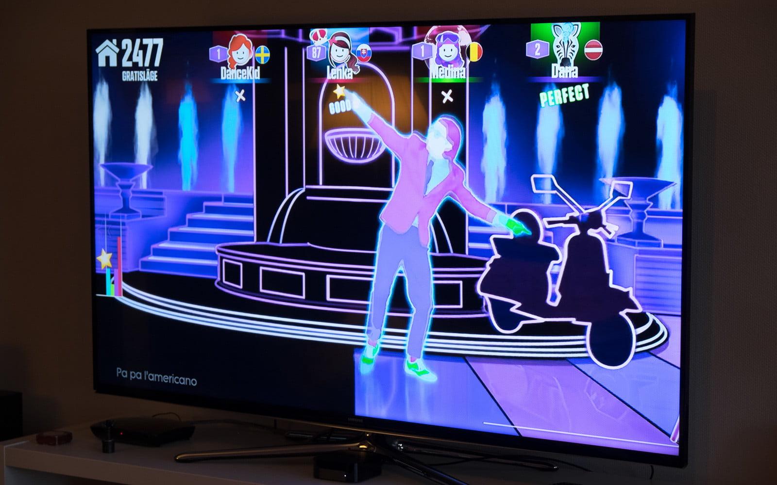 Just Dance Now på Android - genom Chromecast.